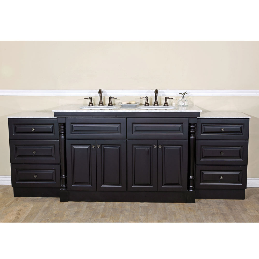 Bellaterra Home 605522c Double Sink Bathroom Vanity Dark Gany