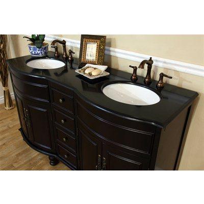 ... Bellaterra Home 62 Inch Double Sink Bathroom Vanity