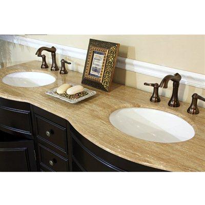 ... Bellaterra Home 62 Inch Double Bathroom Vanity Top ...