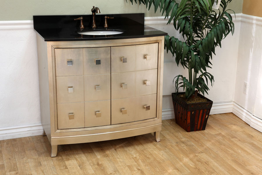 silver bathroom cabinet the collection 36 quot single sink vanity wood bronze silver 26124