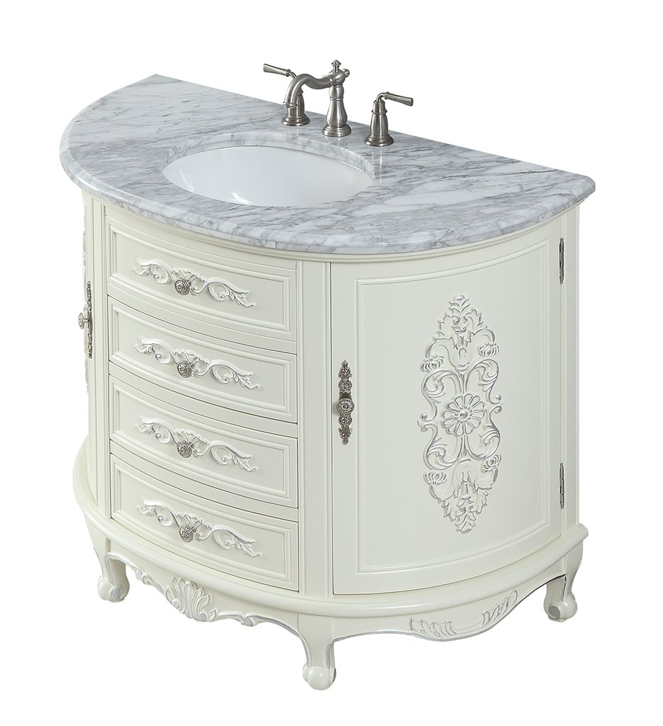 Antique Style 42 Collection White Bathroom Vanity