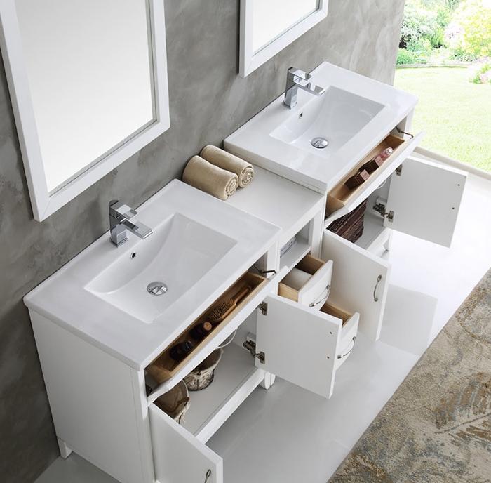 Fresca Cambridge Collection 72 Quot White Double Sink