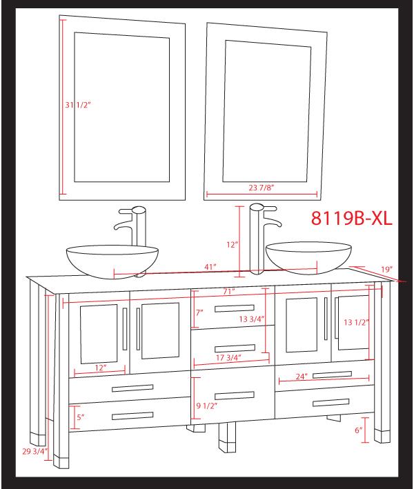 cambridge  inch white glass double sink bathroom vanity set, Home design