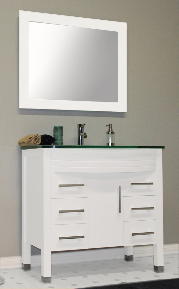 Contemporary Bathroom Vanities 36 Inch cambridge 36 inch white single sink bathroom vanity set