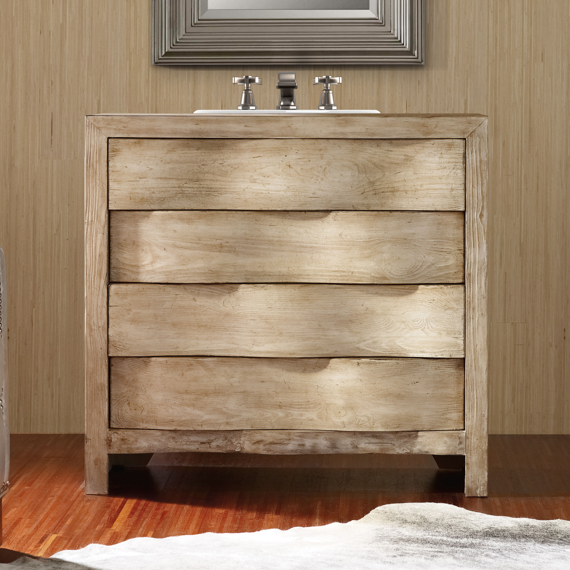 Aidan 36 Inch Curved Chest Bathroom Vanity By Cole U0026 Co