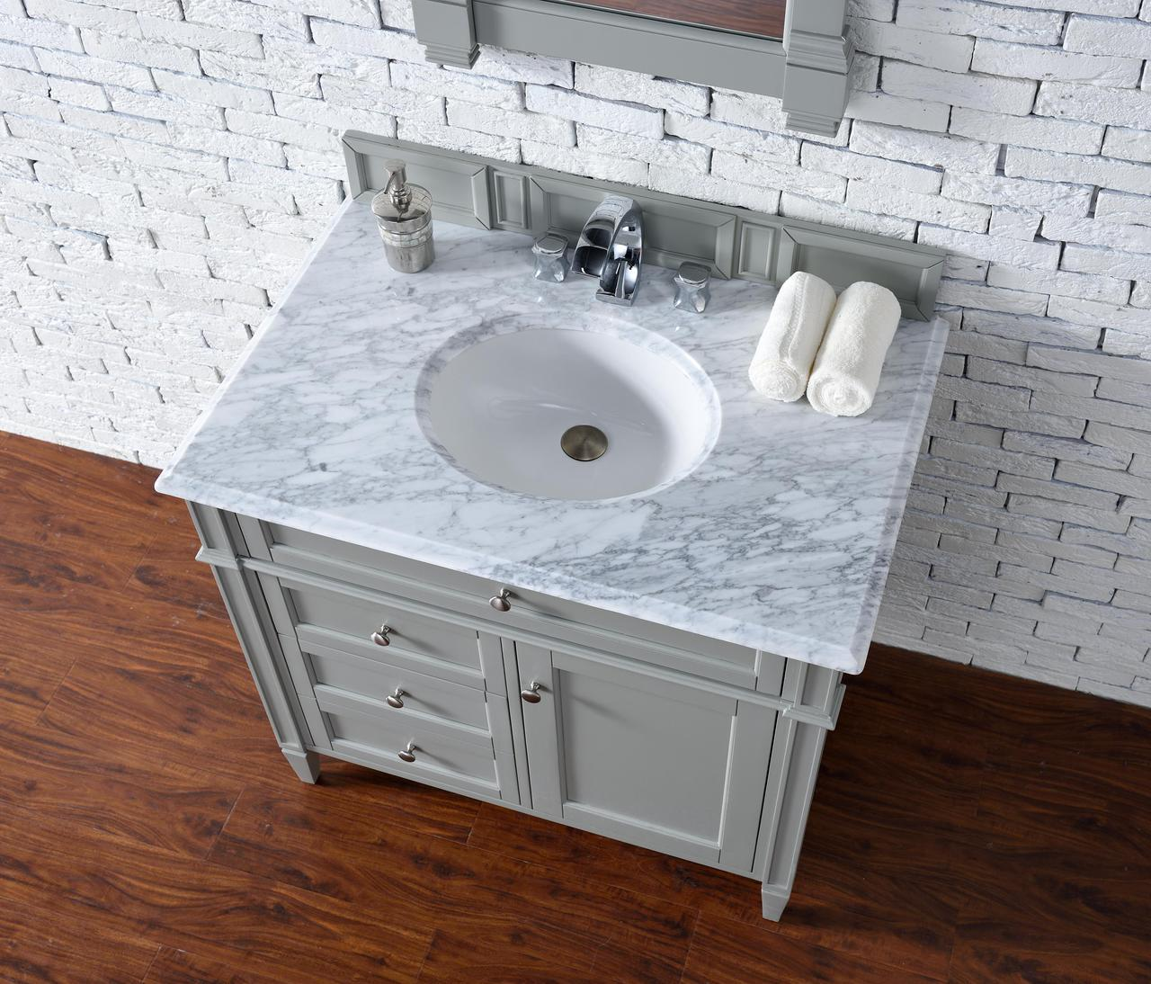 Modern Vanity No Top : James martin brittany collection quot single vanity urban gray