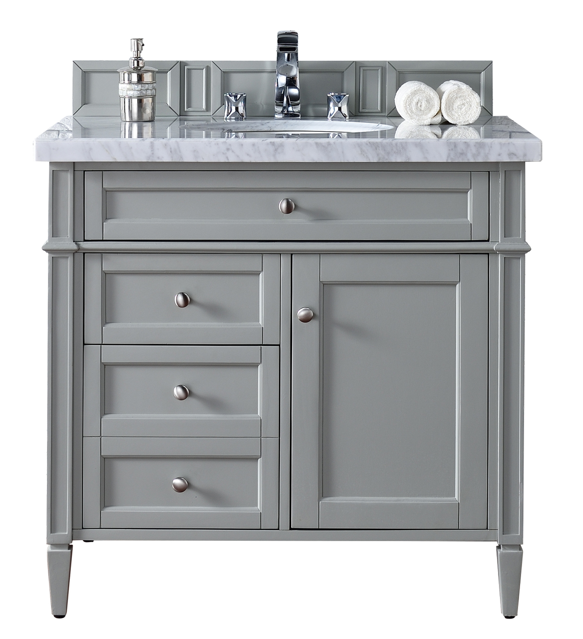 James martin brittany collection 36 single vanity urban gray for Restroom vanity