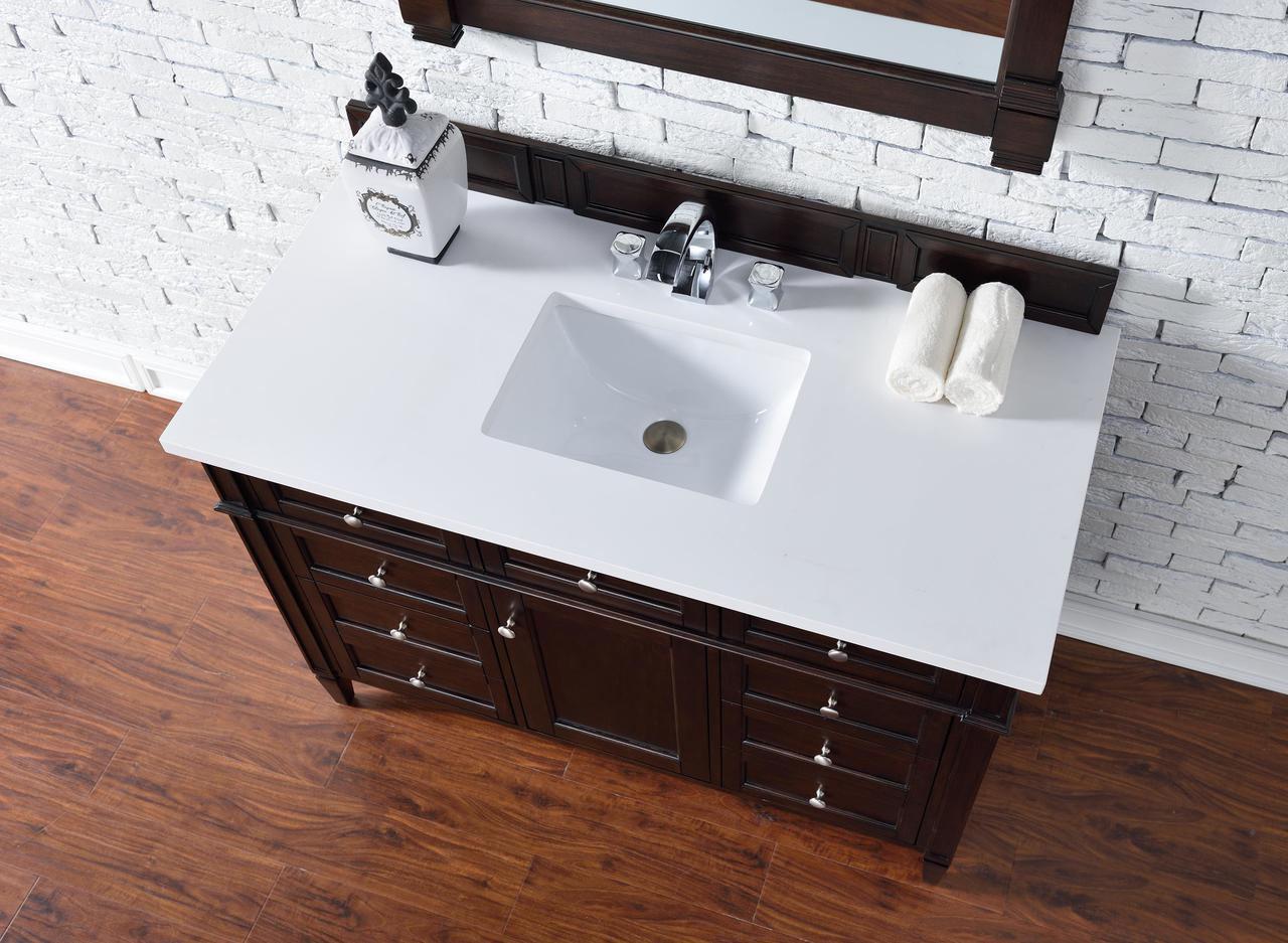 bathroom vanity no top. No Top Contemporary 48 Inch Single Bathroom Vanity Mahogany Finish Y