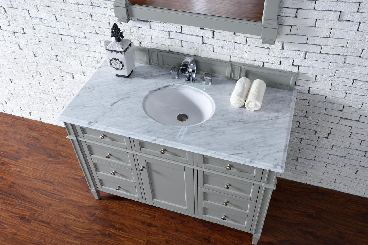 ... Contemporary 48 Inch Single Bath Vanity Gray Finish No Top ...