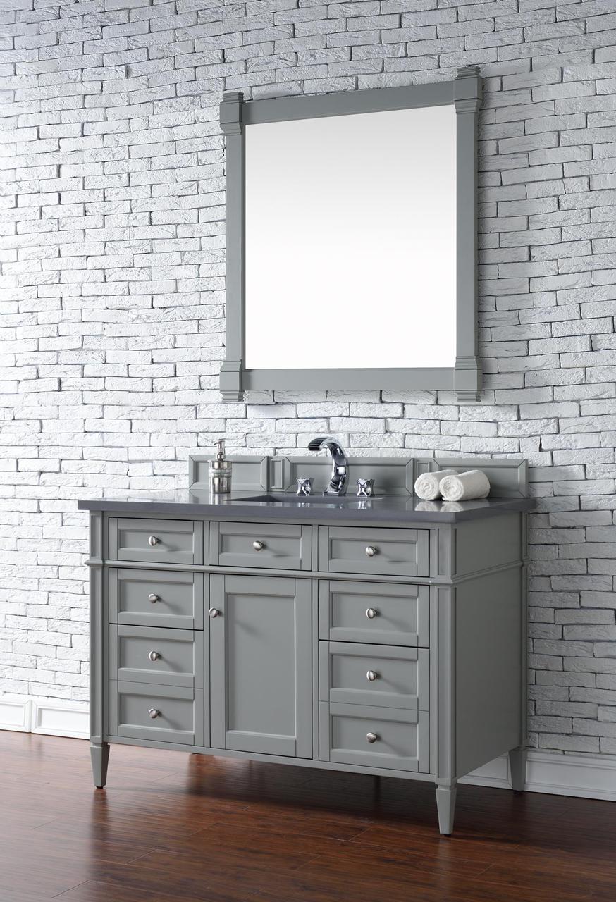... Contemporary 48 inch Single Bathroom Vanity Gray