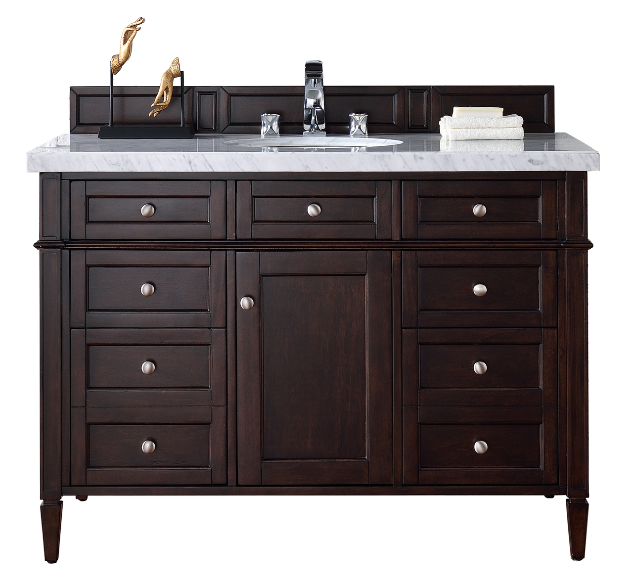 Contemporary 48 inch single bathroom vanity mahogany for Bathroom vanity tops