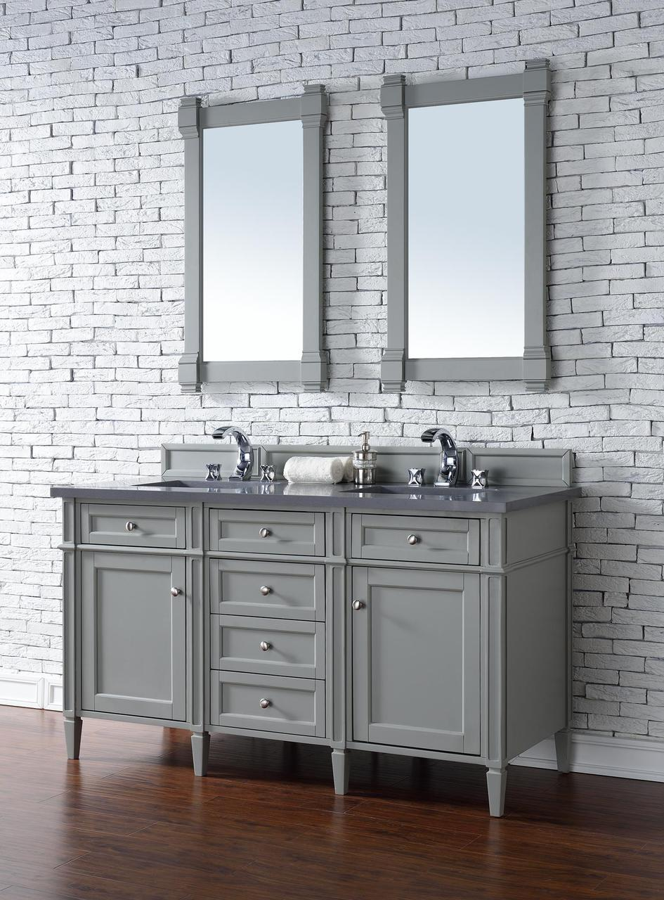 James Martin Brittany Collection 60 Double Vanity Urban Gray