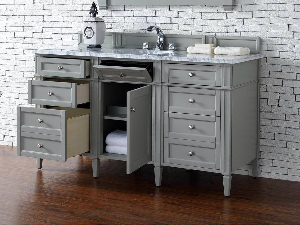 bathroom vanities 60 inch single sink martin collection 60 quot single vanity gray 24975