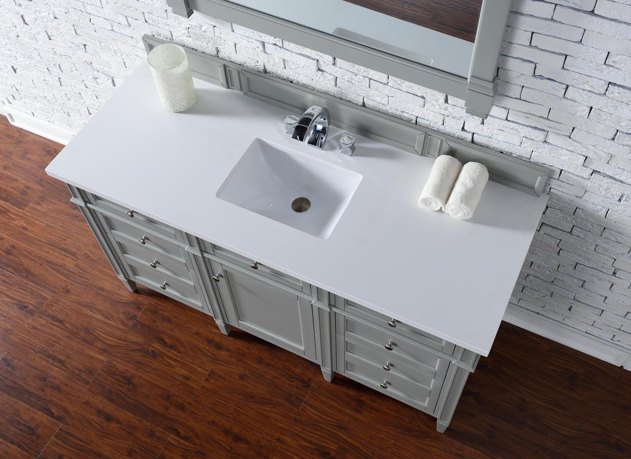 Wonderful 60 Inch Single Vanity Part - 14: ... Contemporary 60 Inch Single Vanity Gray Finish No Top ...