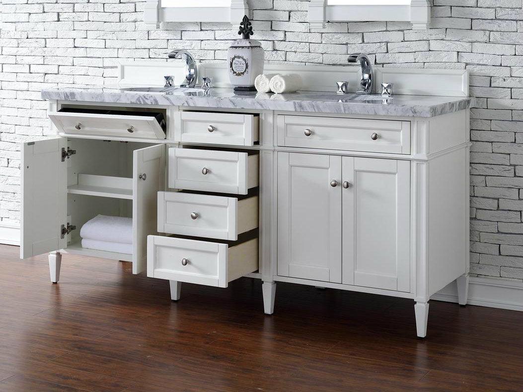 Bathroom Vanities No Top contemporary 72 inch double sink bathroom vanity cottage white