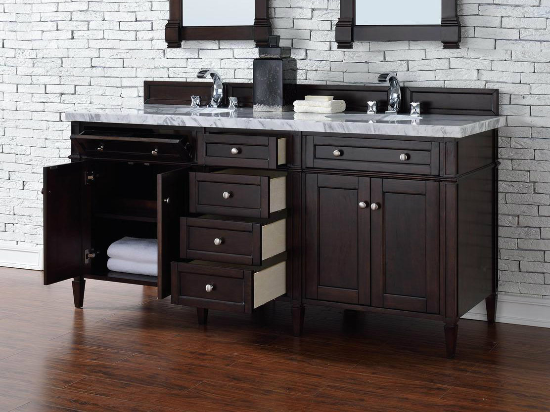 Enjoyable Contemporary 72 Inch Double Sink Bathroom Vanity Mahogany Home Remodeling Inspirations Cosmcuboardxyz