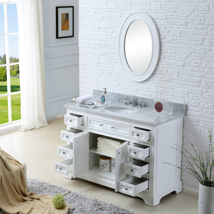 Bon ... Derby 48 Inch Traditional Bath Vanity Marble Countertop ...