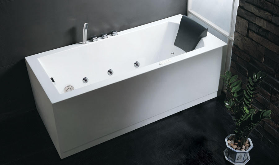 Charmant Corner Whirlpool Bath Tub EAGO Rectangular Corner Whirlpool Bath Tub