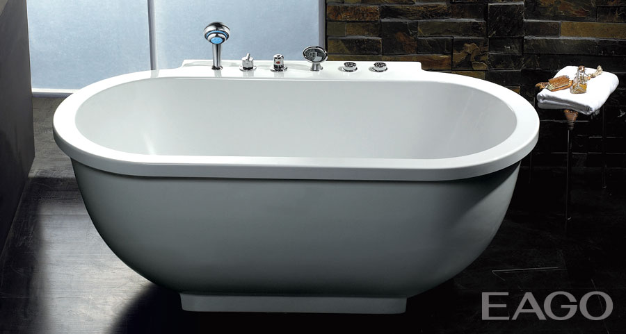 freestanding tub with jets.  EAGO 71 Oval Whirlpool Bath Tub Free Standing Spa 3 Person Capacity