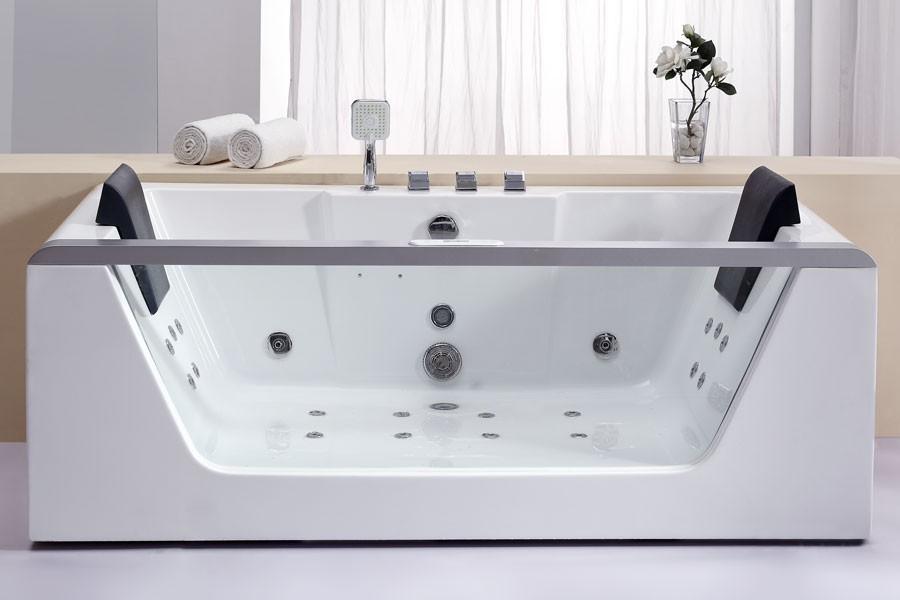 EAGO AM196  Rectangular Corner Whirlpool Tub