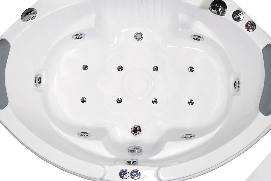 EAGO Rounded Corner Bath Tub