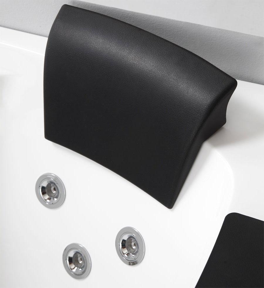 """Eago AM198-L 5"""" Rounded Clear Modern Corner Whirlpool Bath Tub"""
