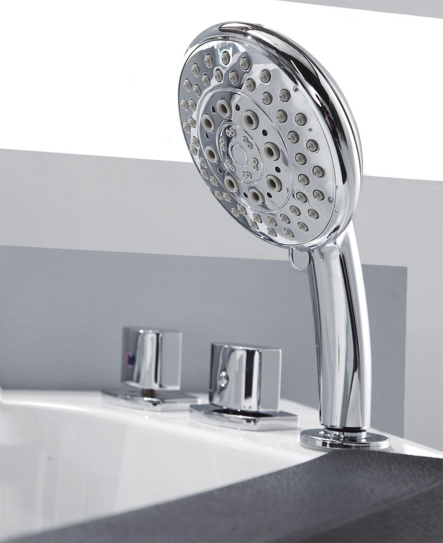 """Eago AM198-R 5"""" Rounded Modern Corner Whirlpool Bath Tub"""