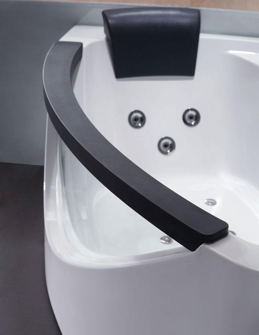 """Eago AM198-R 5"""" Corner Whirlpool Bath Tub"""