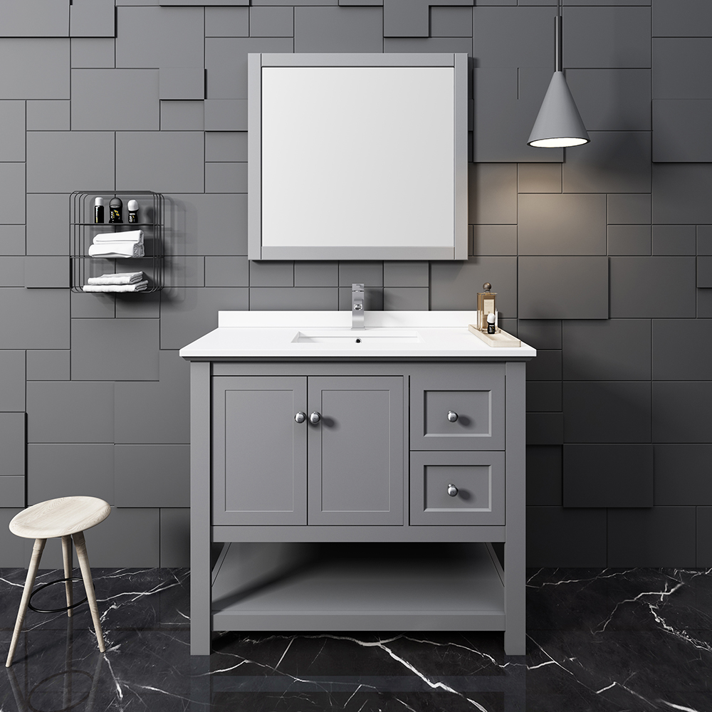 40 Quot Traditional Bathroom Vanity With Mirror And Color Options