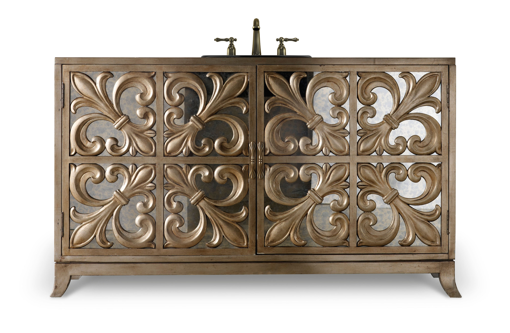 Fleur De Lis 56 Inch Hall Chest Bathroom Vanity By Cole U0026 Co. Designer  Series