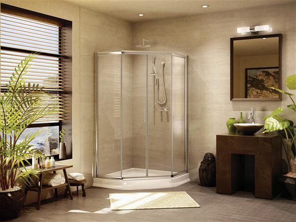 Fleurco Banyo Amalfi 36 Frameless Neo angle Shower Doors
