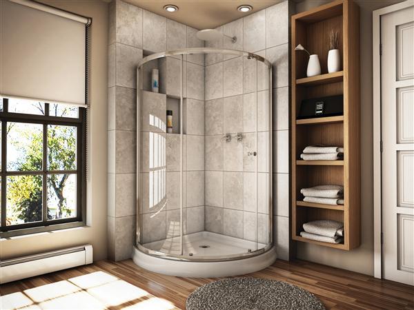 Fleurco Banyo Amalfi 40 Arc 3 Curved Sliding Shower Door