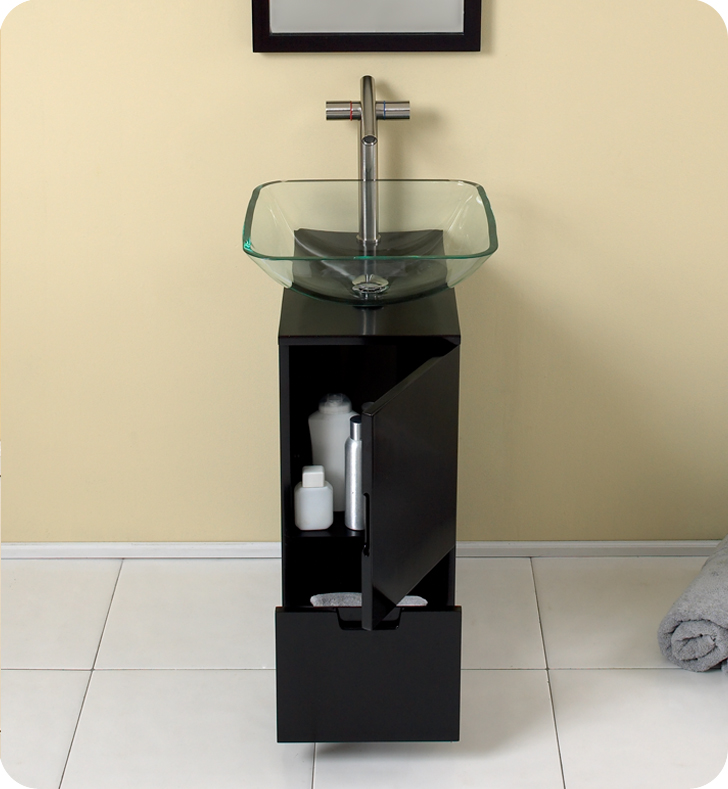 Small Bathroom Vanity Cabinets freca brilliante 17†modern bathroom vanity with mirror