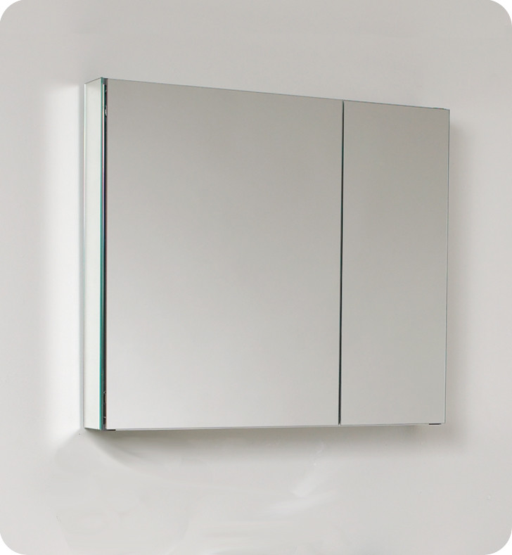 Bathroom Mirrors 24 X 30 fresca 30 inch wide bathroom medicine cabinet with mirrors