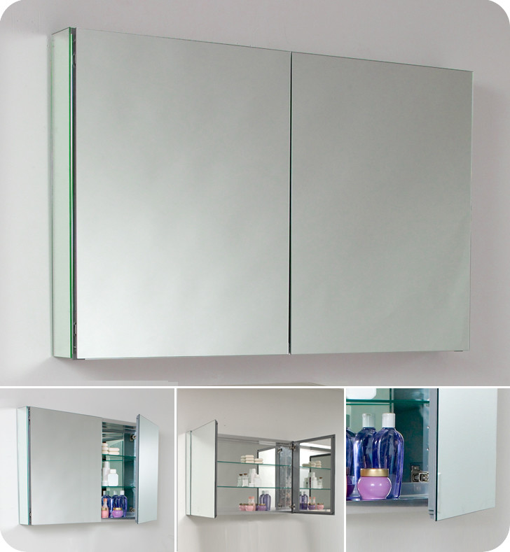 Fresca 40 Inch Wide Bathroom Medicine Cabinet With Mirrors