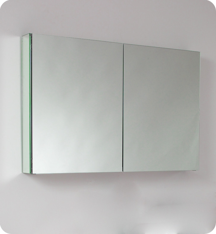 & Fresca 40 inch Wide Bathroom Medicine Cabinet with Mirrors