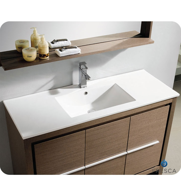 faucet bathroom wall online gray vanities cabinets oak with vista medicine modern buy hung cabinet vanity fresca