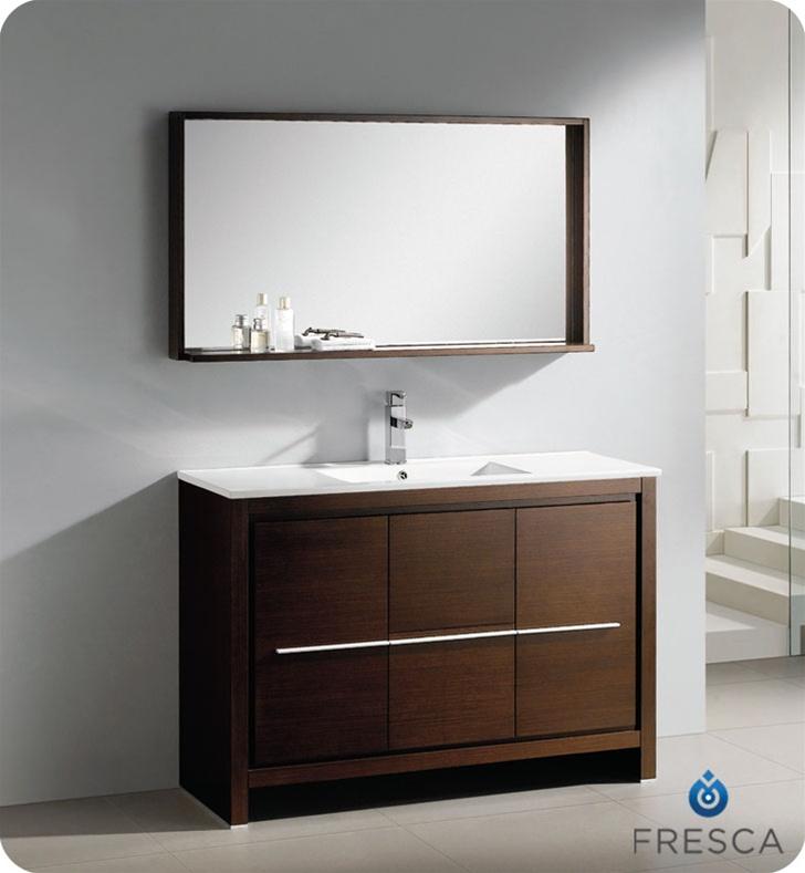 Fresca Allier 48 Modern Bathroom Vanity Wenge Dark Brown Finish