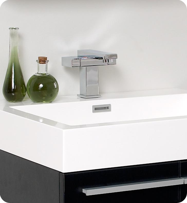 Good ... Fresca Alto Black Modern Bathroom Faucet ...