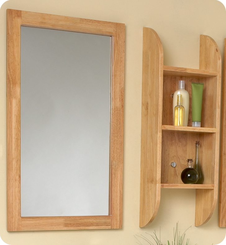 Perfect  Brilliante Modern Bathroom Vanity Set With Mirror In Natural Wood
