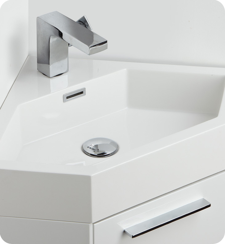"fresca coda "" bathroom vanity, white modern corner bathroom, Home design"