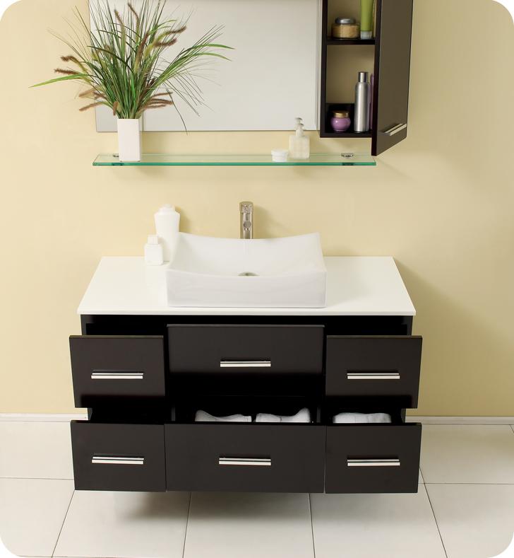 fresca distante espresso modern bathroom vanity