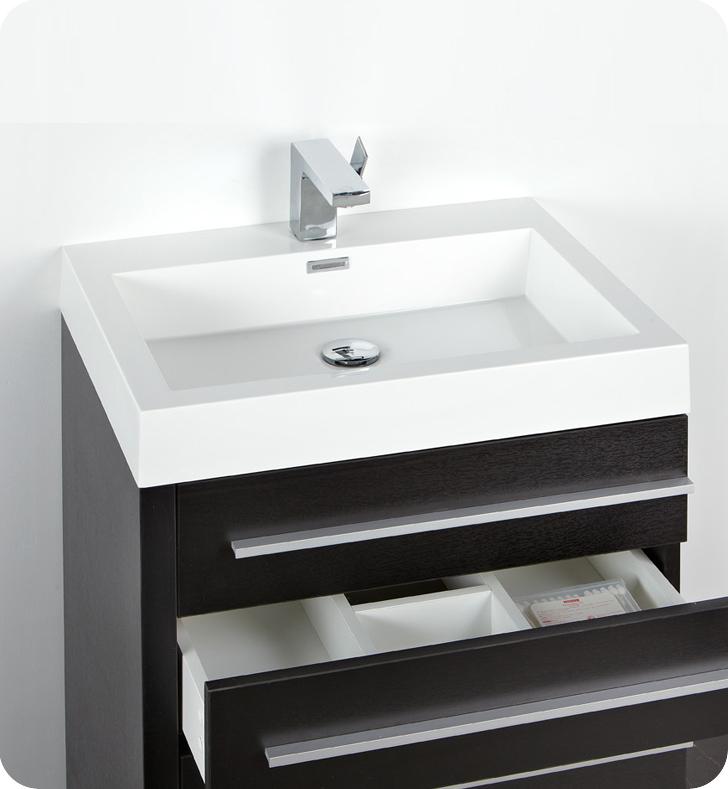 """24 Bathroom Vanity With Medicine Cabinet fresca livello 24"""" black modern bathroom vanity with medicine cabinet"""