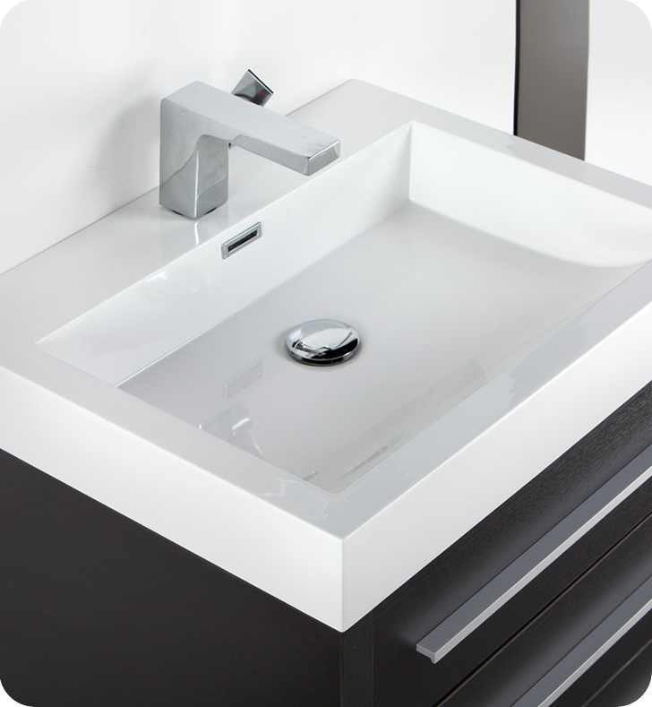 Small Circular Undermount Bathroom Sink with Overflow by