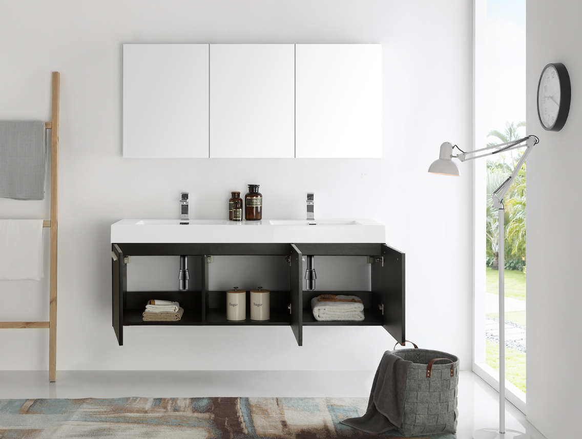 modern bathroom medicine cabinets. Fresca Vista 60\ Modern Bathroom Medicine Cabinets D