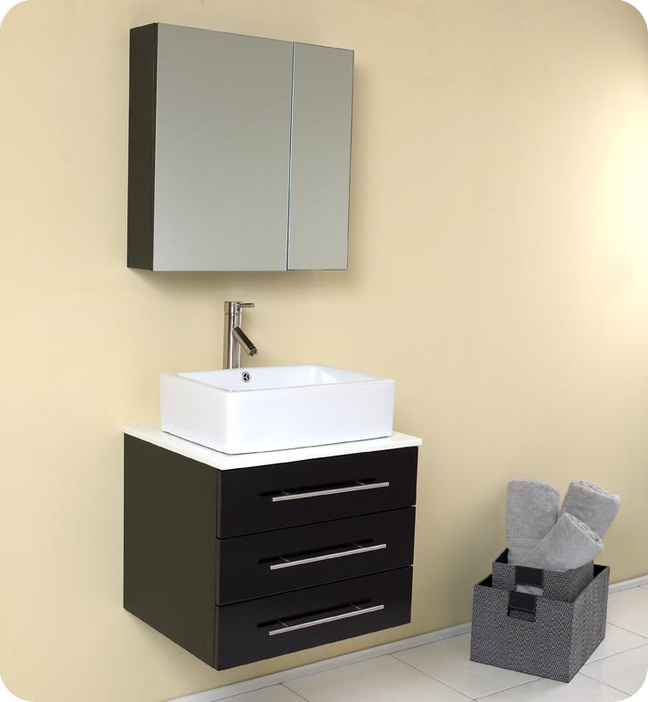 Fresca Modello Espresso Modern 23 5 Bathroom Vanity Solid Oak Wood