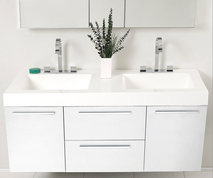 white double sink bathroom  double bathroom vanity fresca fvngo opulento  inch white bathroom vanity