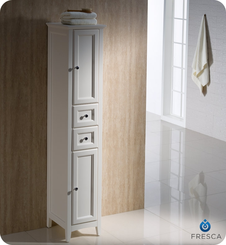 Fresca Oxford 14 Quot Tall Linen Side Cabinet White Finish Is