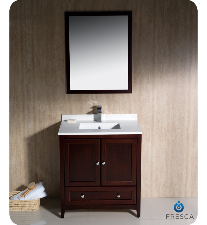 mahogany bathroom cabinets fresca oxford collection 30 quot mahogany traditional bathroom 13568
