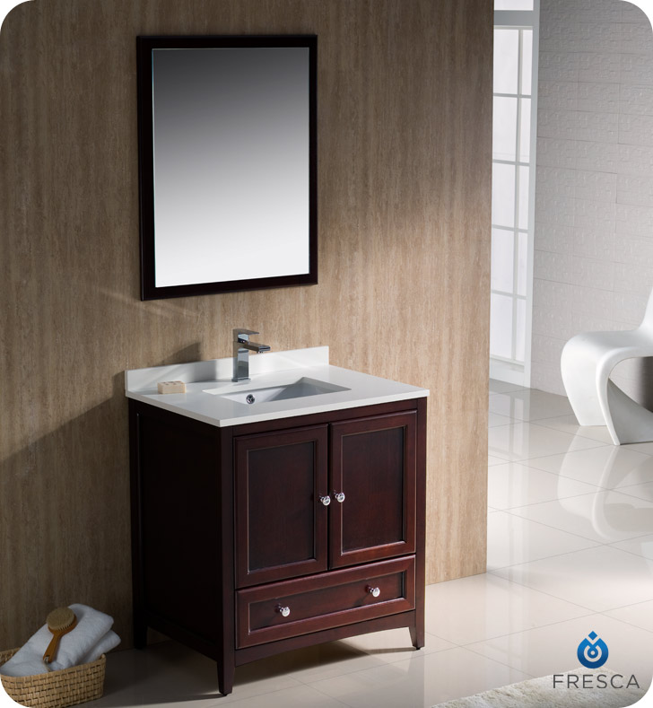 traditional bathroom cabinets fresca oxford collection 30 quot mahogany traditional bathroom 27277